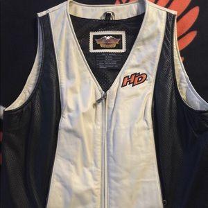 Leather Harley Davidson vest.